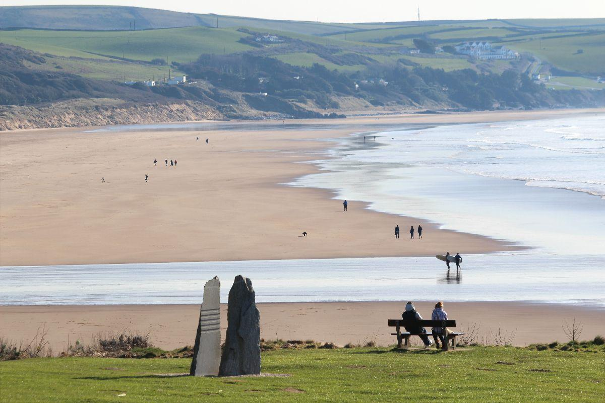 Beautiful Woolacombe Beach looking to Putsborough