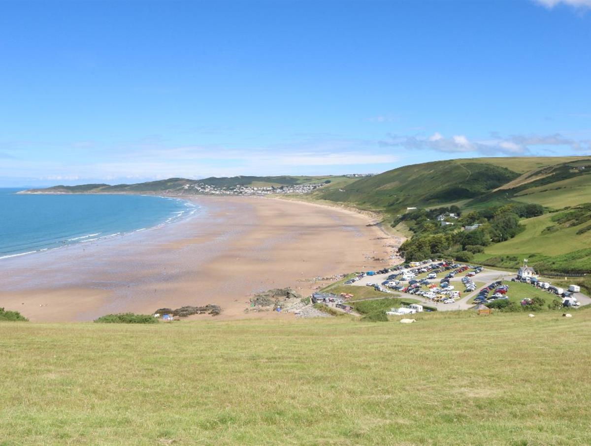 Putsborough beach looking to Woolacombe beach