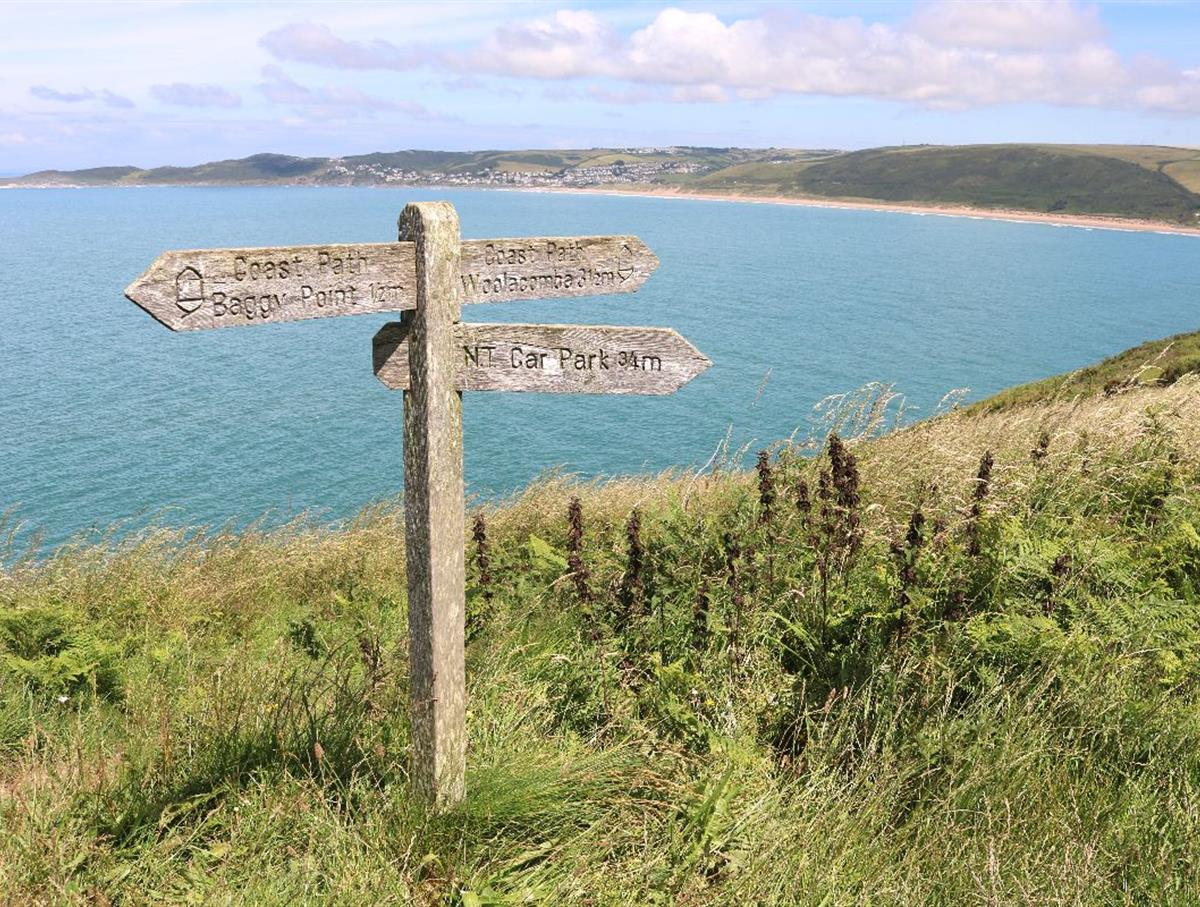 Beautiful walks on the National Trust Baggy Point from Croyde to Putsborough.